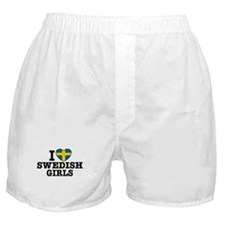 I Love Swedish Girls Boxer Shorts
