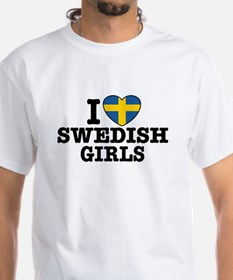 I Love Swedish Girls Shirt