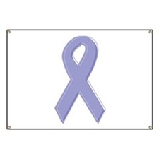 Lavender Awareness Ribbon Banner