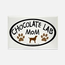chocolate lab mom oval Rectangle Magnet