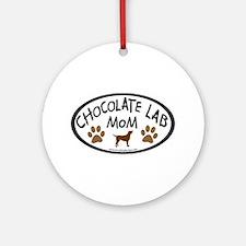 chocolate lab mom oval Ornament (Round)