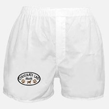 chocolate lab mom oval Boxer Shorts