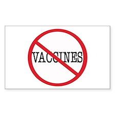Anti Vaccine Rectangle Decal