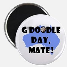 """G'Doodle Day, Mate Aussie Labradoodle 2.25"""" Magnet"""