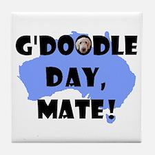 G'Doodle Day, Mate Aussie Labradoodle Tile Coaster