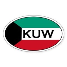 Kuwaiti Decals Oval Decal