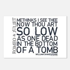 Romeo & Juliet Tomb Quote Postcards (Package of 8)