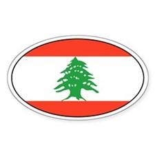 Lebanese Decals Oval Decal