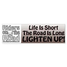 The Rider Method Lighten Up Bumper Bumper Sticker