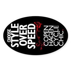 Style Over Speed Oval Decal