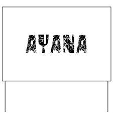 Ayana Faded (Black) Yard Sign