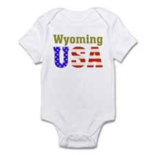 Wyoming USA Infant Bodysuit