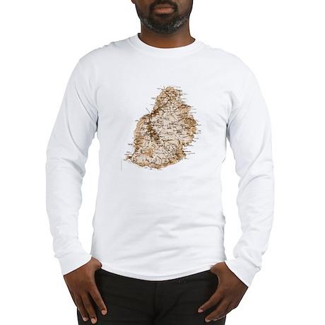 Mauritius map 2 Long Sleeve T-Shirt