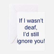 Unique Deaf Greeting Card