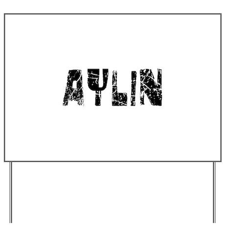 Aylin Faded (Black) Yard Sign