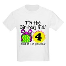 Fourth Birthday Kids Light T-Shirt