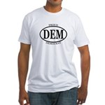 oval DEM Democrat Fitted T-Shirt