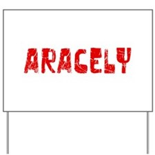 Aracely Faded (Red) Yard Sign