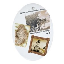 Sugar Oval Ornament