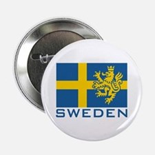 "Sweden Flag 2.25"" Button"