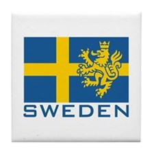 Sweden Flag Tile Coaster