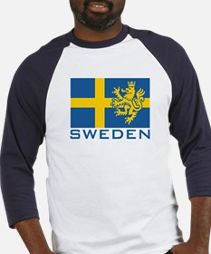 Sweden Flag Baseball Jersey