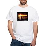 Sunset fishing White T-Shirt