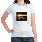 Sunset fishing Jr. Ringer T-Shirt