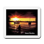 Sunset fishing Mousepad