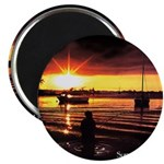 Sunset fishing Magnet