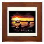 Sunset fishing Framed Tile