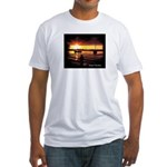 Sunset fishing Fitted T-Shirt