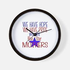 BLUE STAR MOTHERS Wall Clock