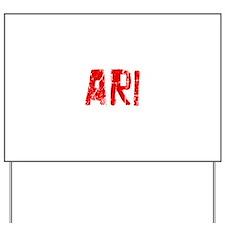 Ari Faded (Red) Yard Sign