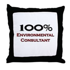 100 Percent Environmental Consultant Throw Pillow
