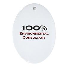 100 Percent Environmental Consultant Ornament (Ova