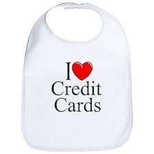 """I Love (Heart) Credit Cards"" Bib"
