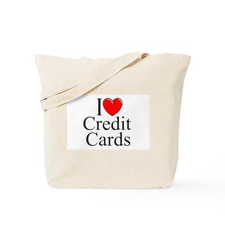 """I Love (Heart) Credit Cards"" Tote Bag"