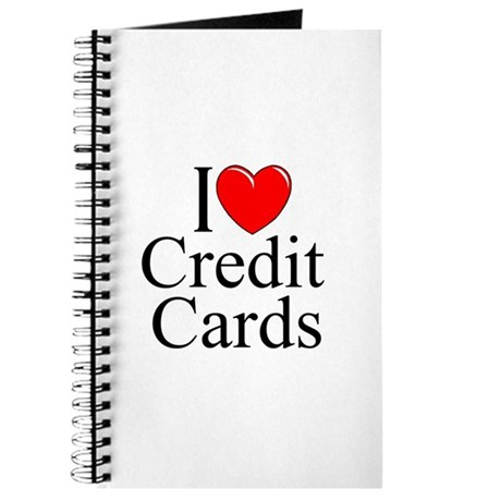 """I Love (Heart) Credit Cards"" Journal"
