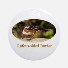 Rufous-sided Towhee Ornament (Round)