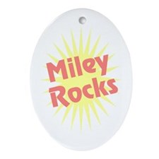 Miley Rocks Oval Ornament