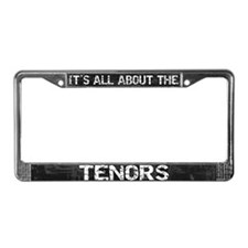 All About Tenors License Plate Frame Grey