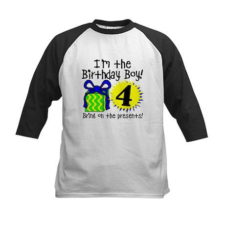 Fourth Birthday Kids Baseball Jersey