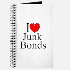 """""""I Love (Heart) Junk Bonds"""" Journal"""