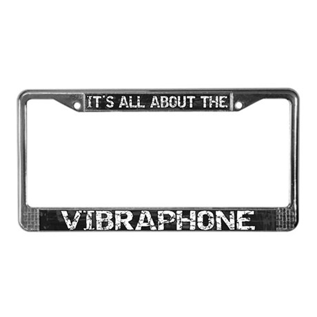 All About Vibes License Plate Frame Grey