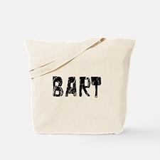 Bart Faded (Black) Tote Bag