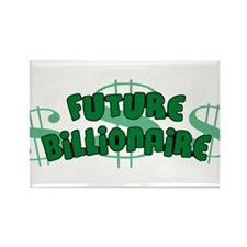 Future Billionaire Rectangle Magnet