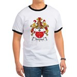 Nachtigal Family Crest Ringer T