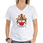 Nachtigal Family Crest Women's V-Neck T-Shirt