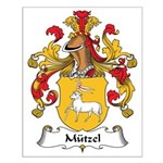 Mutzel Family Crest Small Poster